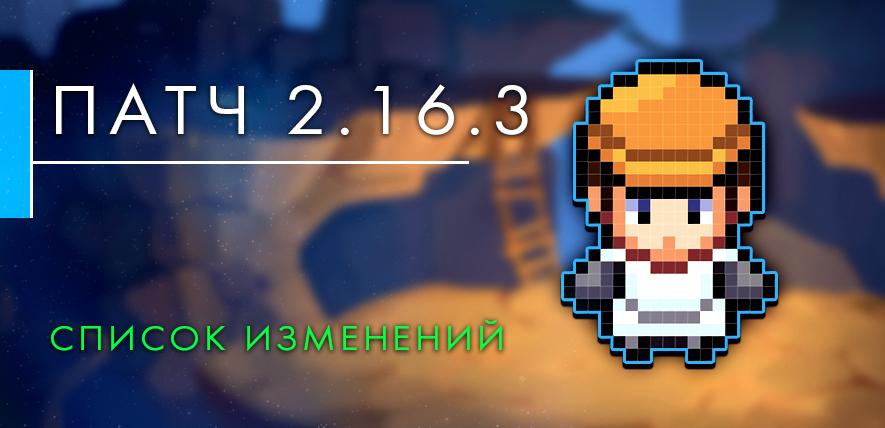 Обновление до версии 2.16.3